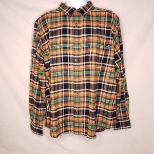 Woolrich Mens Size XL Plaid Flannel Button Up